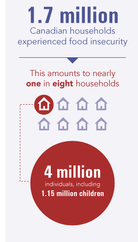 1.7 million households reported being food insecure in 2012
