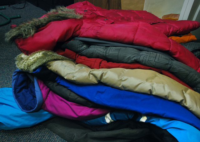 Winter coats donated to the Voluntary Action Centre