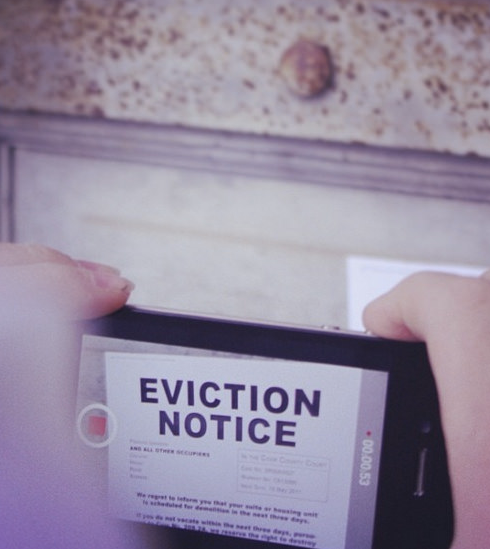 """Eviction Notice"" sign."
