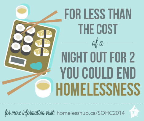 For less than the cost of a night out for two you could end homelessness.