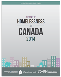 The State of Homelessness in Canada 2014 report cover