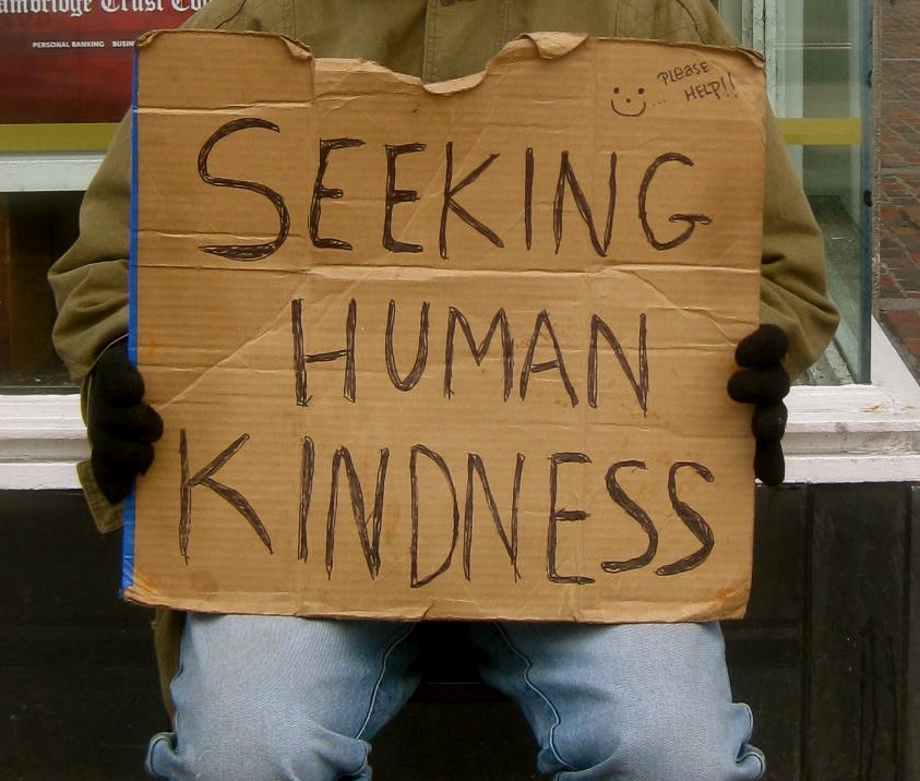 Homeless Cardboard Signs Cardboard Sign Reads Quot Seeking