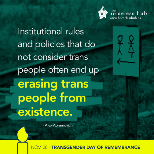 Institutional rules and policies that do not consider trans people often end up erasing trans people from existence.