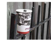 Cup on a fence