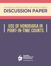 Use of Honoraria in Point-in-Time Counts | The Homeless Hub