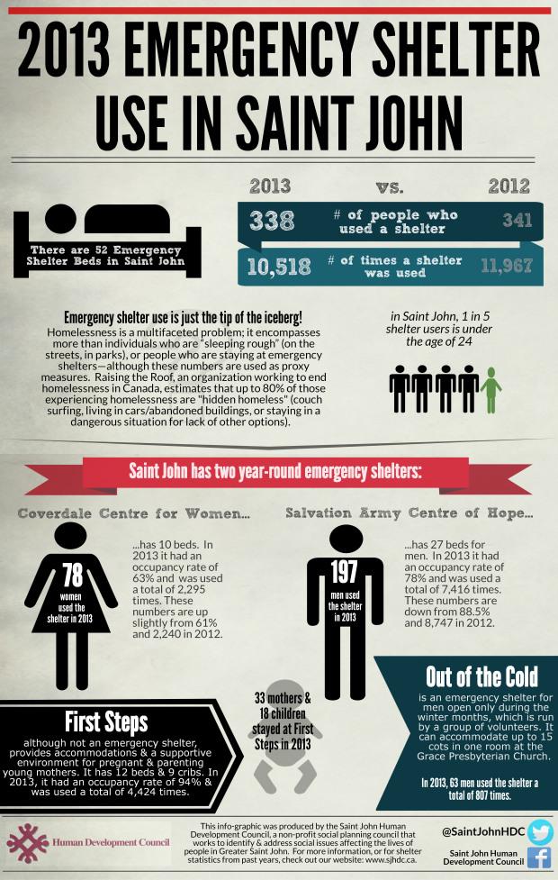 2013 Saint John Shelter Use Infographic