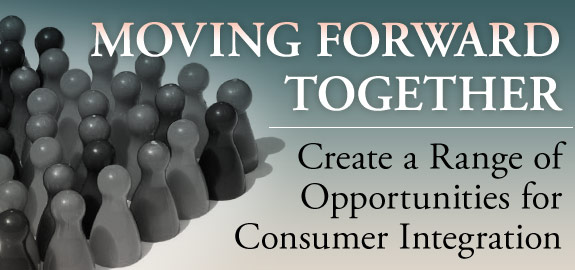 Moving forward together. Create a Range of Opportunities for consumer integration banner