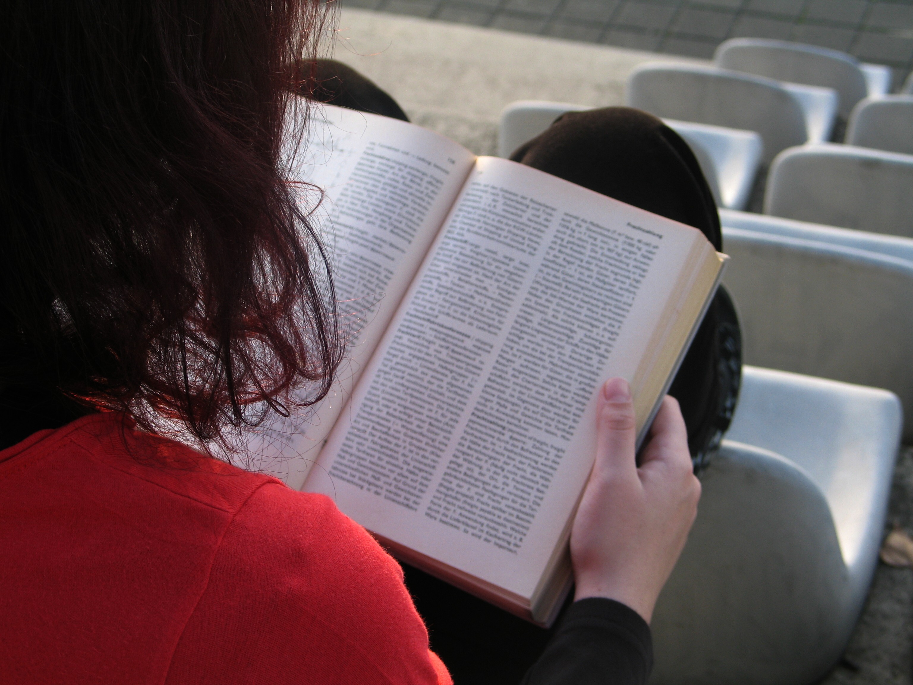 A person reading a book